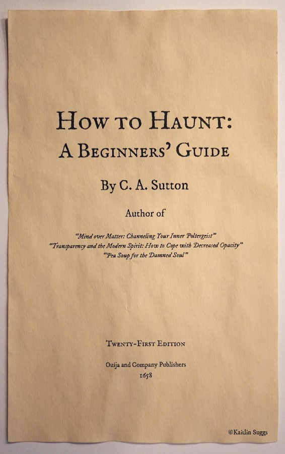 How to Haunt: A Beginner's Guide - Title Page